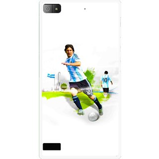 Snooky Printed Football Mania Mobile Back Cover For Blackberry Z3 - Multi