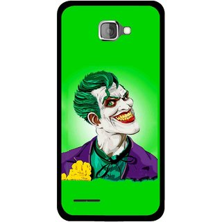 Snooky Printed Ismail Please Mobile Back Cover For Micromax Canvas Mad A94 - Green
