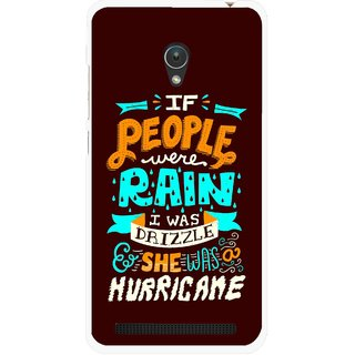 Snooky Printed Monsoon Mobile Back Cover For Asus Zenfone 5 - Multicolour