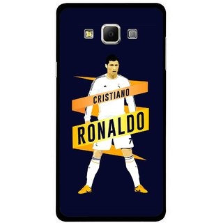 Snooky Printed Ronaldo Mobile Back Cover For Samsung Galaxy E5 - Blue