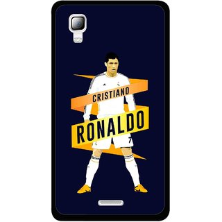 Snooky Printed Ronaldo Mobile Back Cover For Micromax Canvas Doodle 3 A102 - Blue