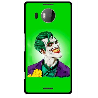 Snooky Printed Ismail Please Mobile Back Cover For Microsoft Lumia 950 XL - Green