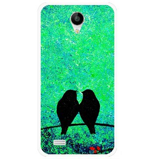 Snooky Printed Love Birds Mobile Back Cover For Vivo Y22 - Green