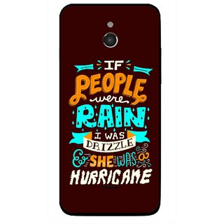 Snooky Printed Monsoon Mobile Back Cover For Infocus M2 - Multicolour