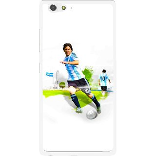 Snooky Printed Football Mania Mobile Back Cover For Gionee Elife S6 - Multi