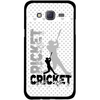 Snooky Printed Cricket Mobile Back Cover For Samsung Galaxy J5 - Multicolour