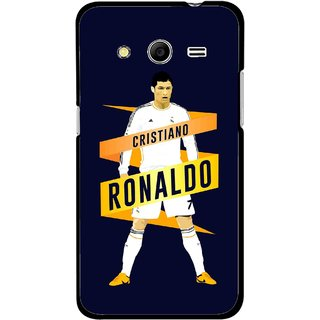 Snooky Printed Ronaldo Mobile Back Cover For Samsung Galaxy G355 - Blue