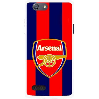 Snooky Printed Sports Logo Mobile Back Cover For Oppo Neo 7 - Red
