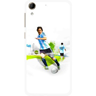 Snooky Printed Football Mania Mobile Back Cover For HTC Desire 728 - Multi