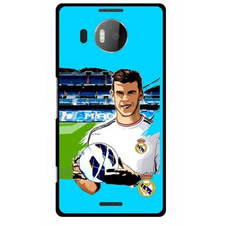 Snooky Printed Football Champion Mobile Back Cover For Microsoft Lumia 950 XL - Blue