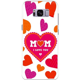 Snooky Printed Mom Mobile Back Cover For Samsung Galaxy S8 - White