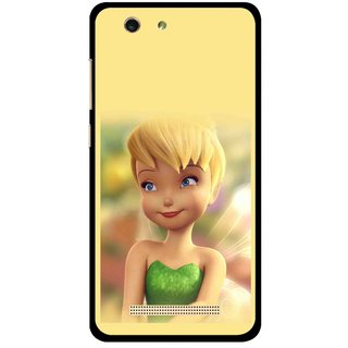 Snooky Printed Butterfly Girl Mobile Back Cover For Gionee F103 pro - Multi