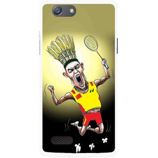 Snooky Printed Adivasi Sports Mobile Back Cover For Oppo Neo 7 - Yellow
