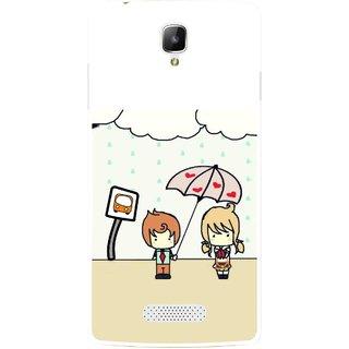 Snooky Printed Feelings in Love Mobile Back Cover For Oppo Neo 3 R831k - Multi