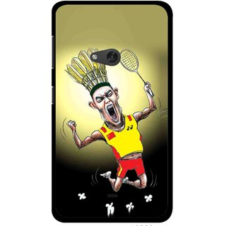 Snooky Printed Adivasi Sports Mobile Back Cover For Nokia Lumia 625 - Yellow
