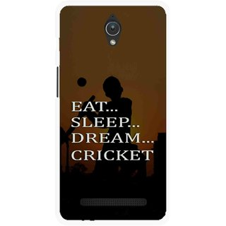 Snooky Printed All Is Cricket Mobile Back Cover For Asus Zenfone C - Multicolour