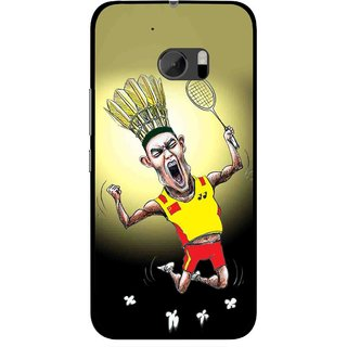 Snooky Printed Adivasi Sports Mobile Back Cover For HTC One M10 - Yellow