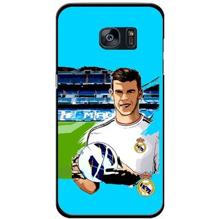 Snooky Printed Football Champion Mobile Back Cover For Samsung Galaxy S7 - Blue