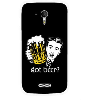Snooky Printed Got Beer Mobile Back Cover For Micromax A116 - Multicolour