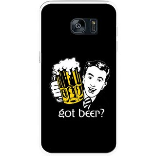 Snooky Printed Got Beer Mobile Back Cover For Samsung Galaxy S7 - Multicolour