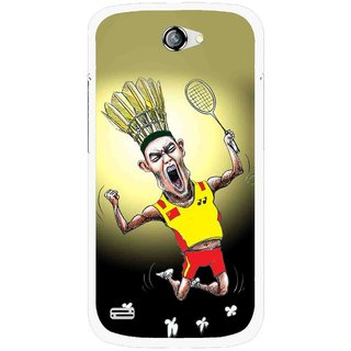 Snooky Printed Adivasi Sports Mobile Back Cover For Gionee Pioneer P3 - Yellow