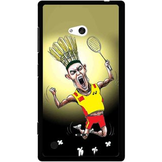 Snooky Printed Adivasi Sports Mobile Back Cover For Nokia Lumia 720 - Yellow