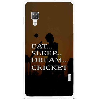 Snooky Printed All Is Cricket Mobile Back Cover For Lg Optimus L5II E455 - Multicolour