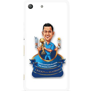 Snooky Printed Cricket Ka Badshah Mobile Back Cover For Sony Xperia M5 - White