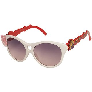 VESPL White Full Rim Cat Eye UV 400 Protected Small (Size-48) Kids Sunglasses - V-7301