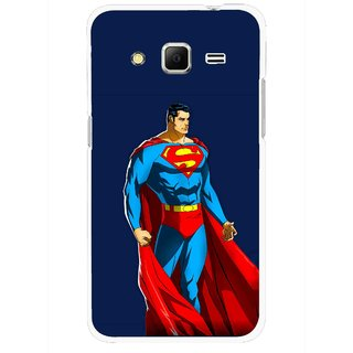 Snooky Printed Super Hero Mobile Back Cover For Samsung Galaxy Core Prime - Blue