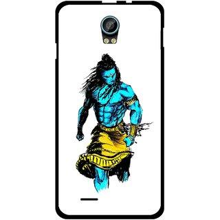 Snooky Printed Bhole Nath Mobile Back Cover For Intex Aqua Life 2 - Multicolour