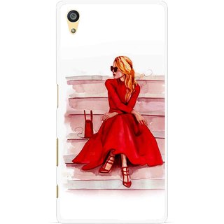 Snooky Printed Attitude Girl Mobile Back Cover For Sony Xperia Z5 Plus - Multi