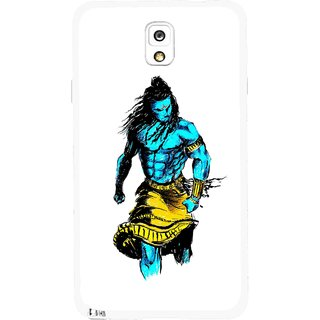 Snooky Printed Bhole Nath Mobile Back Cover For Samsung Galaxy Note 3 - Multicolour