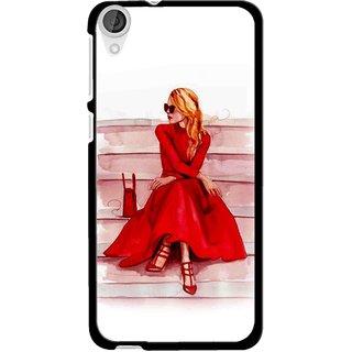 Snooky Printed Attitude Girl Mobile Back Cover For HTC Desire 820 - Multi