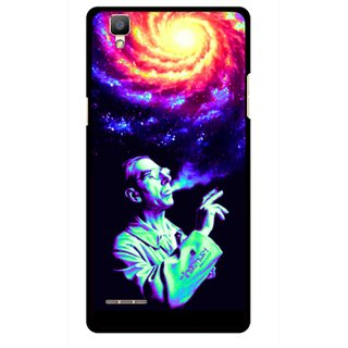 Snooky Printed Universe Mobile Back Cover For Oppo F1 - Multi