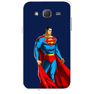 Snooky Printed Super Hero Mobile Back Cover For Samsung Galaxy J7 - Blue