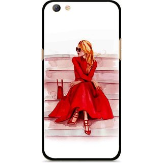 Snooky Printed Attitude Girl Mobile Back Cover For Oppo F3 plus - Multi