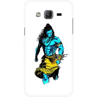 Snooky Printed Bhole Nath Mobile Back Cover For Samsung Galaxy On5 - Multicolour