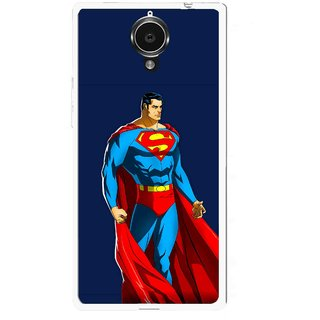 Snooky Printed Super Hero Mobile Back Cover For Gionee Elife E7 - Blue