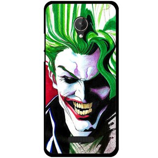 Snooky Printed Joker Mobile Back Cover For Micromax Canvas Spark Q380 - Multi