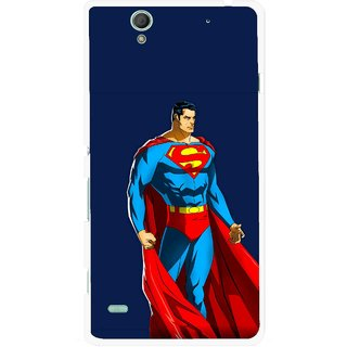 Snooky Printed Super Hero Mobile Back Cover For Sony Xperia C4 - Blue