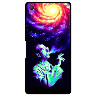 Snooky Printed Universe Mobile Back Cover For Sony Xperia Z2 - Multi