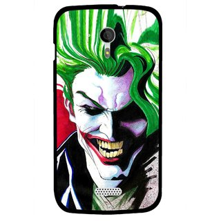 Snooky Printed Joker Mobile Back Cover For Micromax A116 - Multi