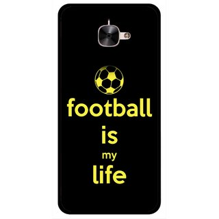 Snooky Printed Football Is Life Mobile Back Cover For Letv Le 2 - Multicolour