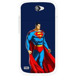 Snooky Printed Super Hero Mobile Back Cover For Gionee Pioneer P3 - Blue