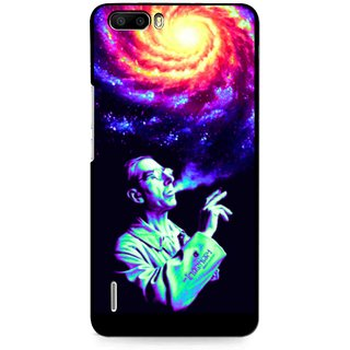 Snooky Printed Universe Mobile Back Cover For Huawei Honor 6 Plus - Multi