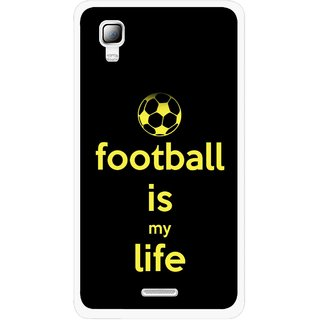 Snooky Printed Football Is Life Mobile Back Cover For Micromax Canvas Doodle 3 A102 - Multicolour