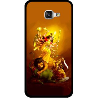 Snooky Printed Maa Durga Mobile Back Cover For Samsung Galaxy A3 (2016) - Yellow