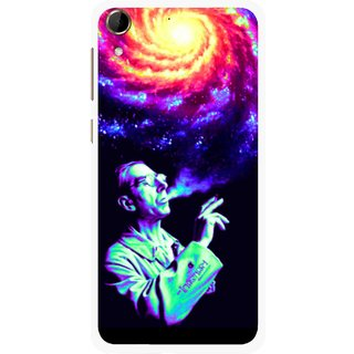 Snooky Printed Universe Mobile Back Cover For HTC Desire 728 - Multi