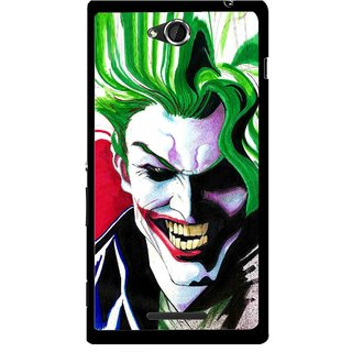 Snooky Printed Joker Mobile Back Cover For Sony Xperia C - Multi